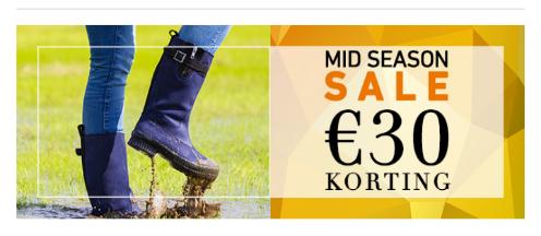 €30 Midseason korting op waterdichte ZOO Adventure laarzen