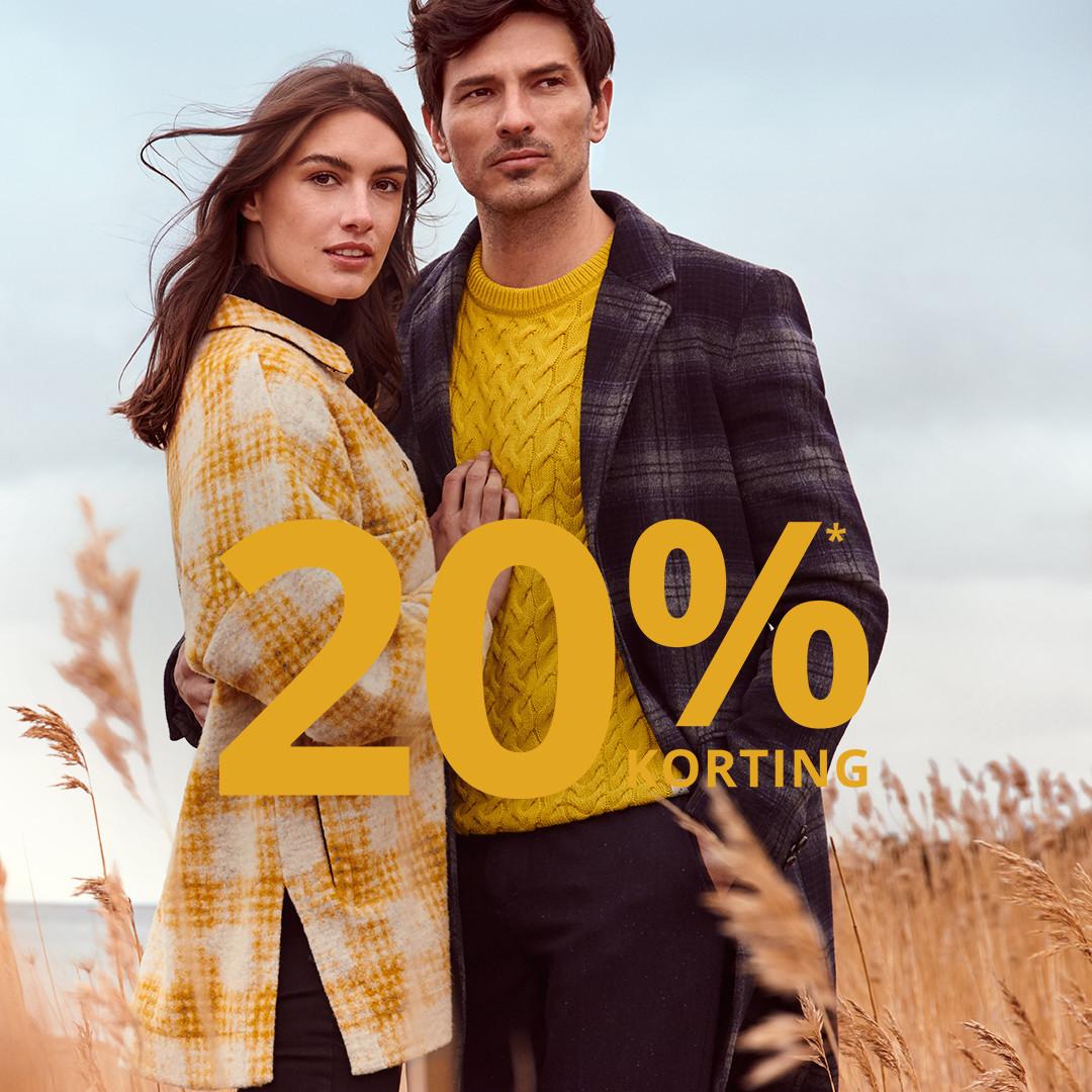 -20% op veel kleding (dames, heren, kids) @ Peek & Cloppenburg (ook sale, tot -80%)
