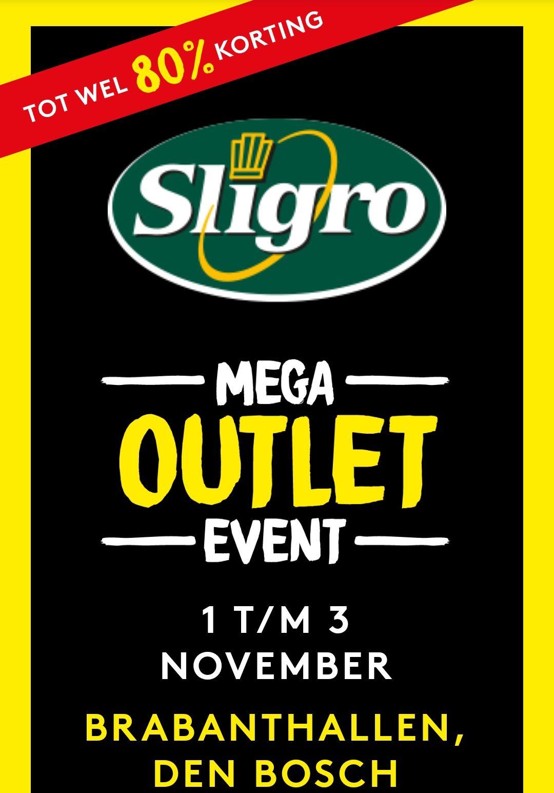 (Lokaal Den Bosch) Sligro mega outlet event tot wel 80% korting geen Sligro pas nodig