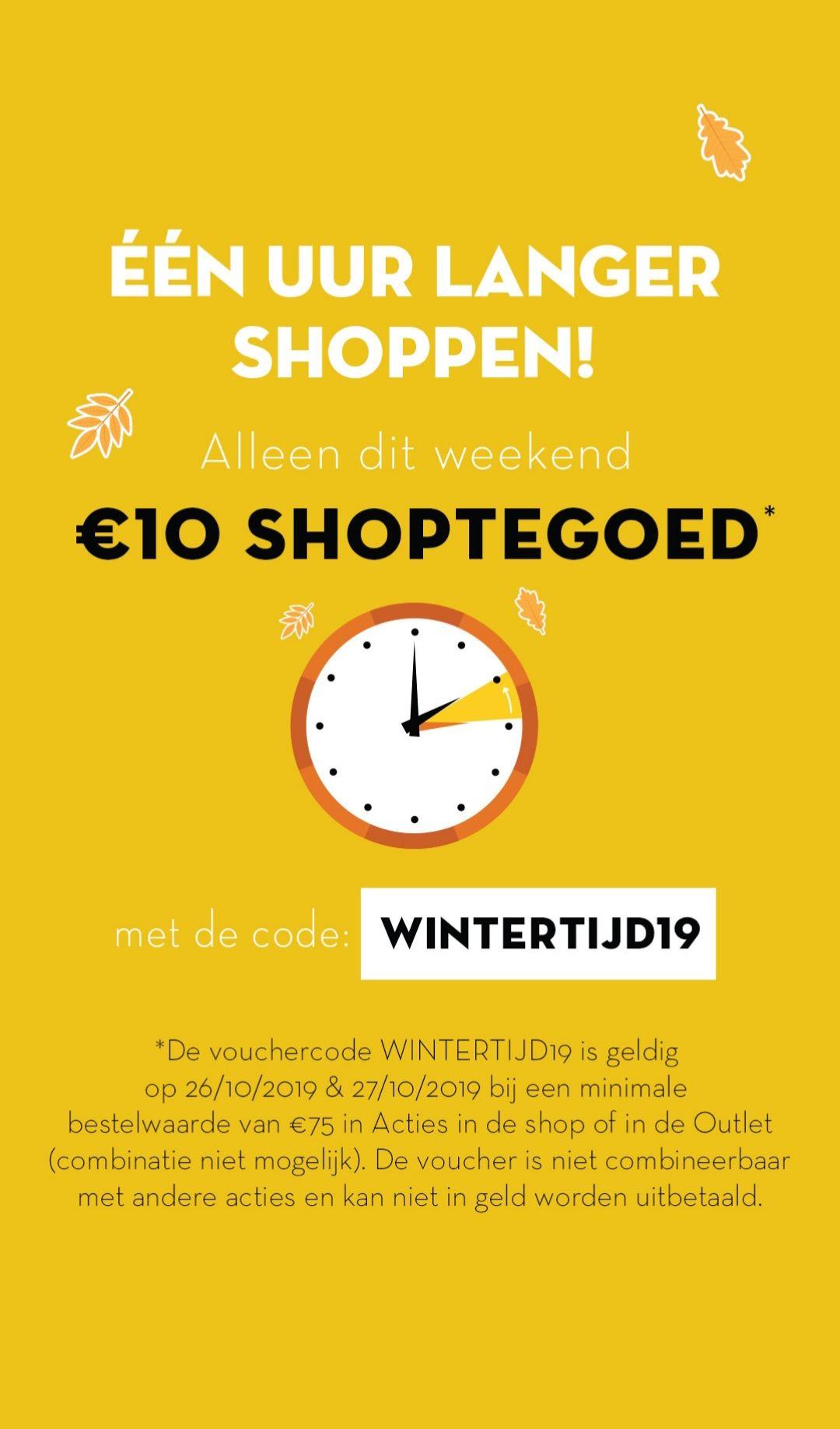 €10 korting bij minimale besteding van €75 @ Limango