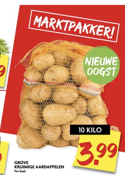 10 kilo aardappelen bij de Dekamarkt.