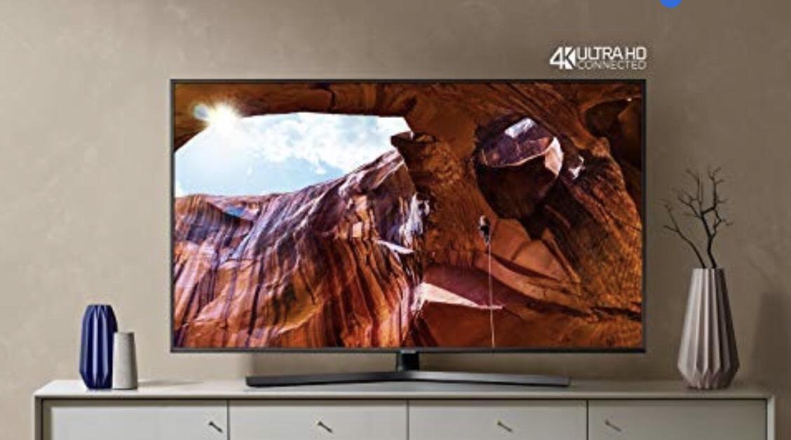 """Samsung UE55RU7400U Smart TV 4K Ultra HD 55"""" Wi-Fi DVB-T2CS2, Serie RU7400 2019, 3840 x 2160 Pixels, Grigio"""