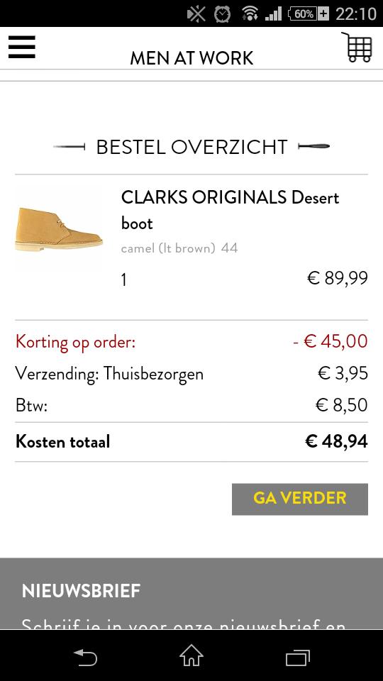 CLARKS ORIGINALS Desert boot van €129,99 naar € 45