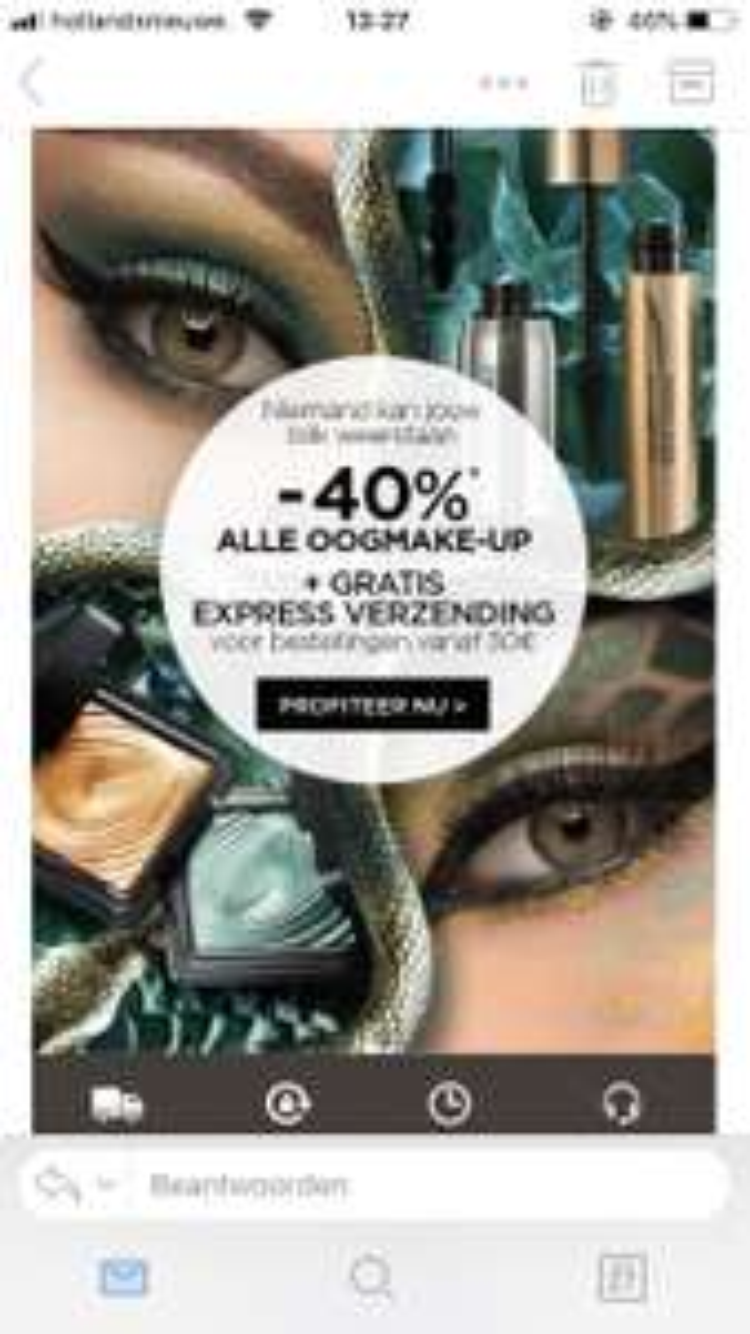 40% korting op oogmake-up bij KIKO