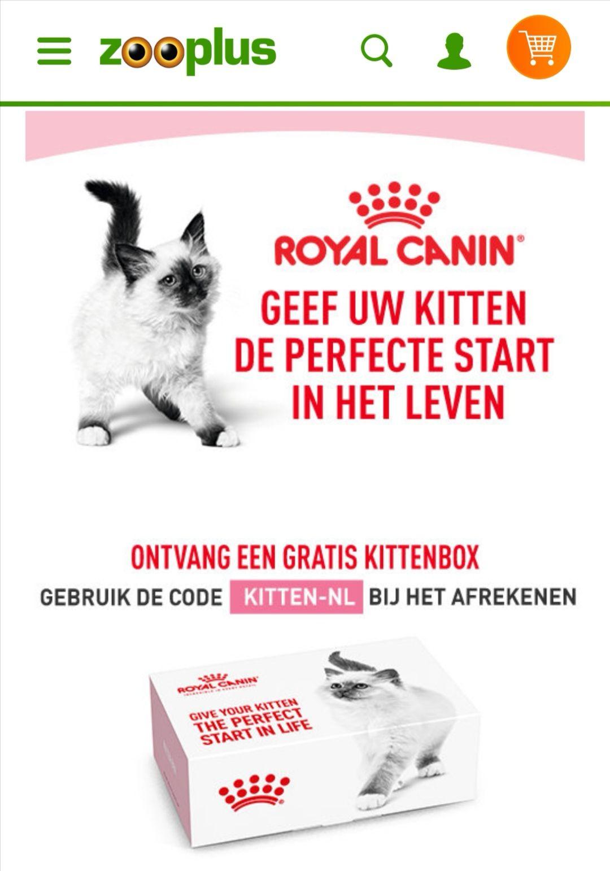 Gratis kittenbox bij besteding van €29 @ Zooplus
