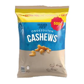 500 gr. Ongezouten cashewnoten Extra Volume Voordeel.