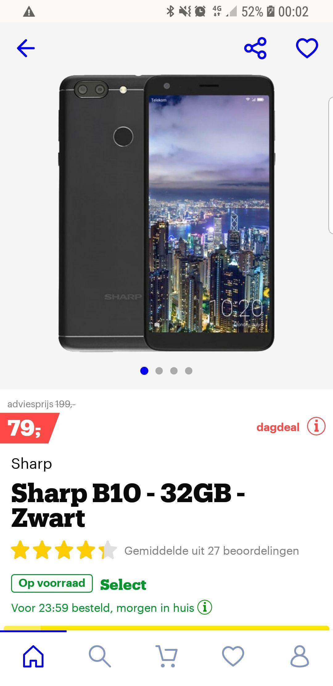 Sharp B10 van 199 naar 79 euro