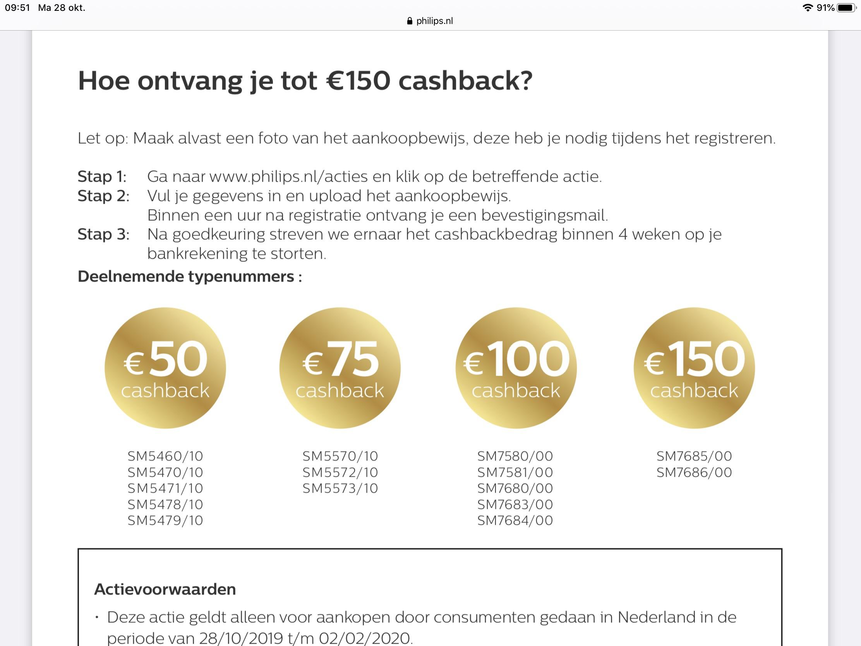 Wederom een leuke aanbieding de Philips Saeco Xelsis SM7685 of SM7686 met 150 euro en 30.000 ing punten