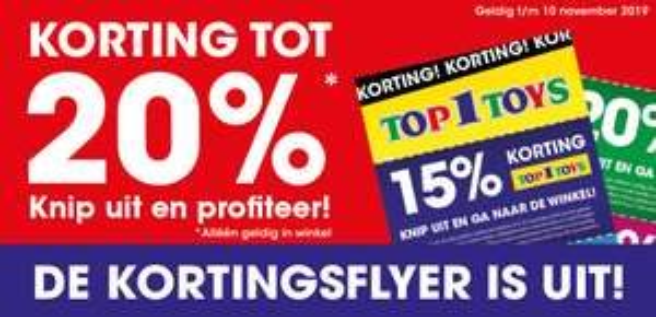 top1toys 20% of 15% korting ALLEEN IN DE WINKEL (niet online)