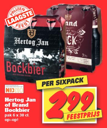 [Nettorama] 6-pack Hertog Jan Bock of Brand Dubbelbock