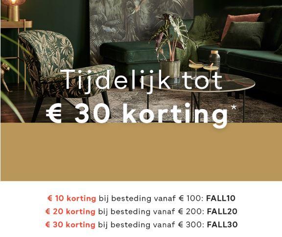 Met code(s) €10 // €20 // €30 (extra) korting (va €100 // €200 // €300) @ fonQ