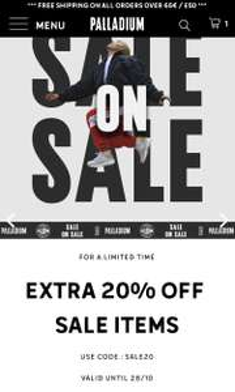 20% extra korting op sale Palladium