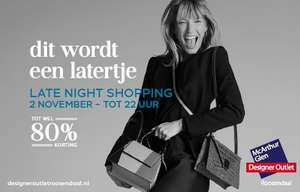 Late night shopping op za 2/11 @designer outlet Roosendaal