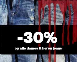 Vandaag 30% EXTRA korting op jeans @ Maison Lab