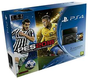 PS4 console (CUH-1216A) + 2 controllers en PES 2016 voor €414,90 @ Amazon