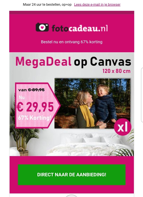 Mega deal Canvas, alleen vandaag.