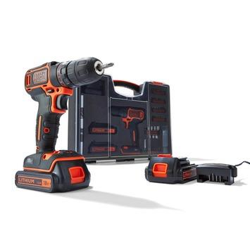 Black+Decker accu boormachine BDC718AS2O-QW + 80-delige accessoireset