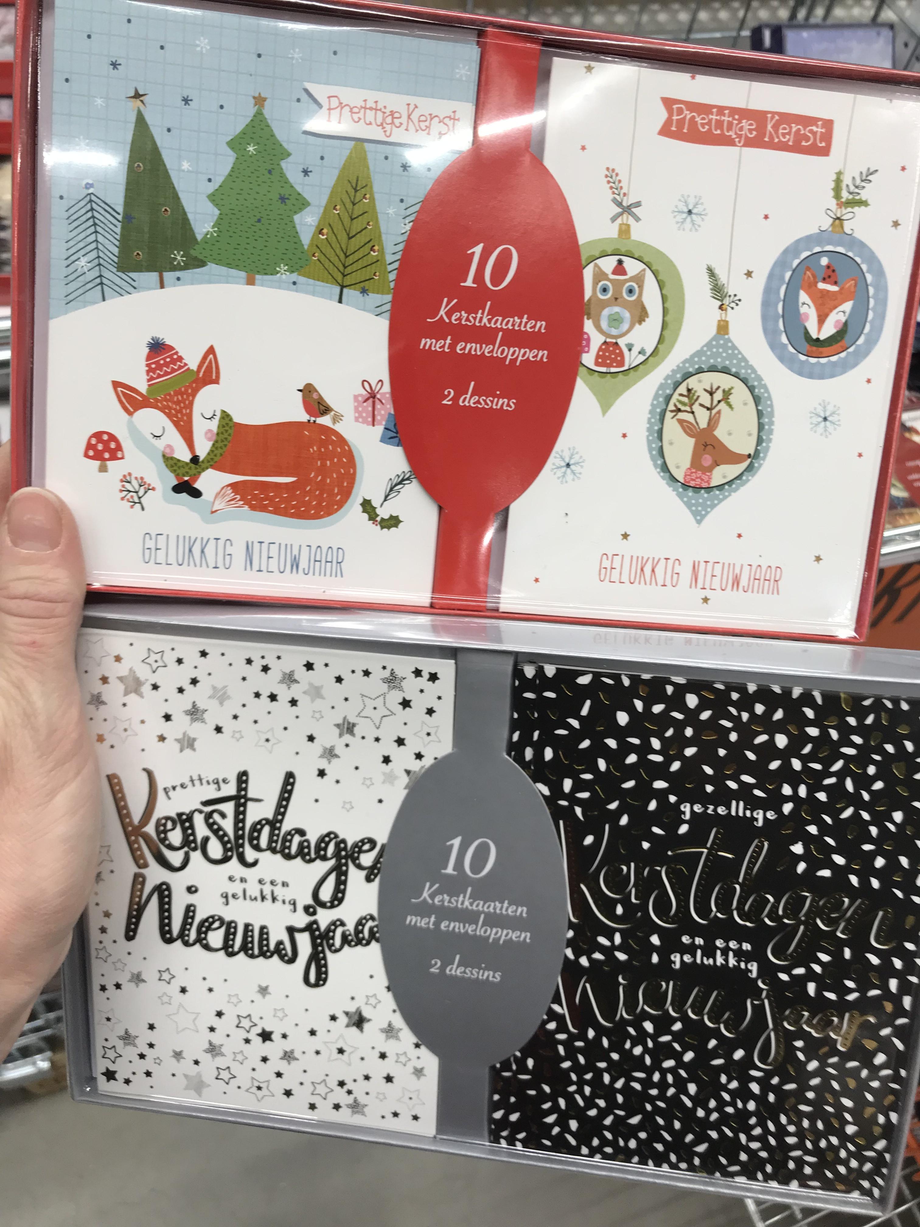 Kerstkaarten met envelop - 10 voor €0,95 bij Hornbach