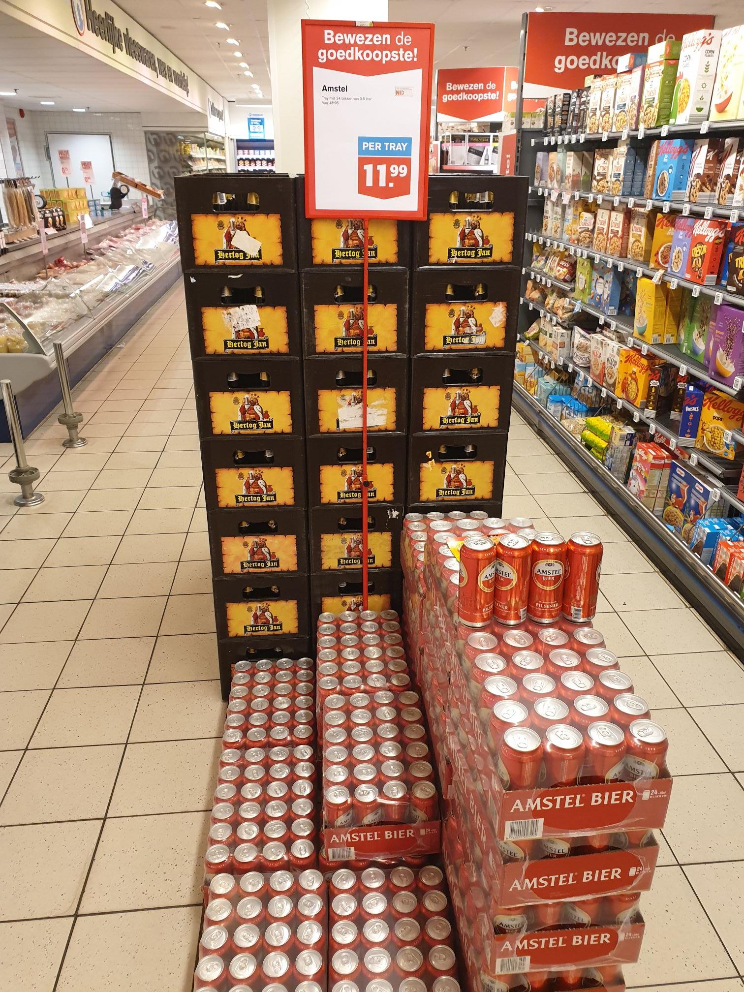 24 halve liter blikken Amstel voor slechts 11,99