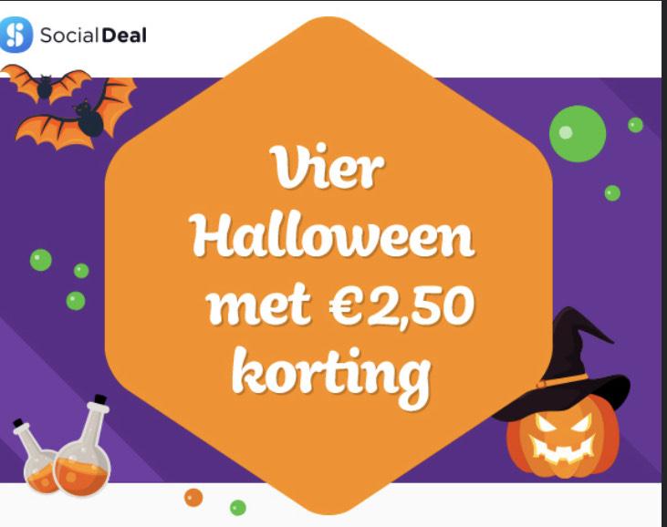 €2,50 gratis tegoed Social deal