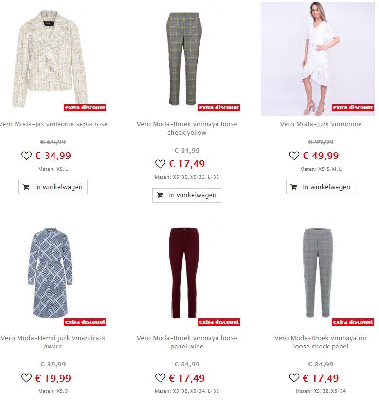 Pieces & Vero Moda 50% extra korting @ Maison Lab