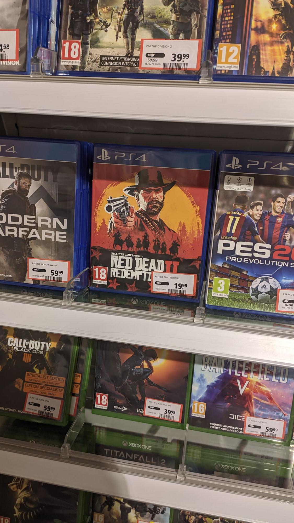 Red Dead Redemption 2 voor ps4 aan €16,51 tijdens btwvrije koopavond Intertoys