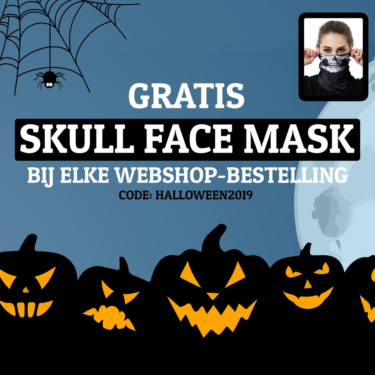 Skull face mask bij motorshop