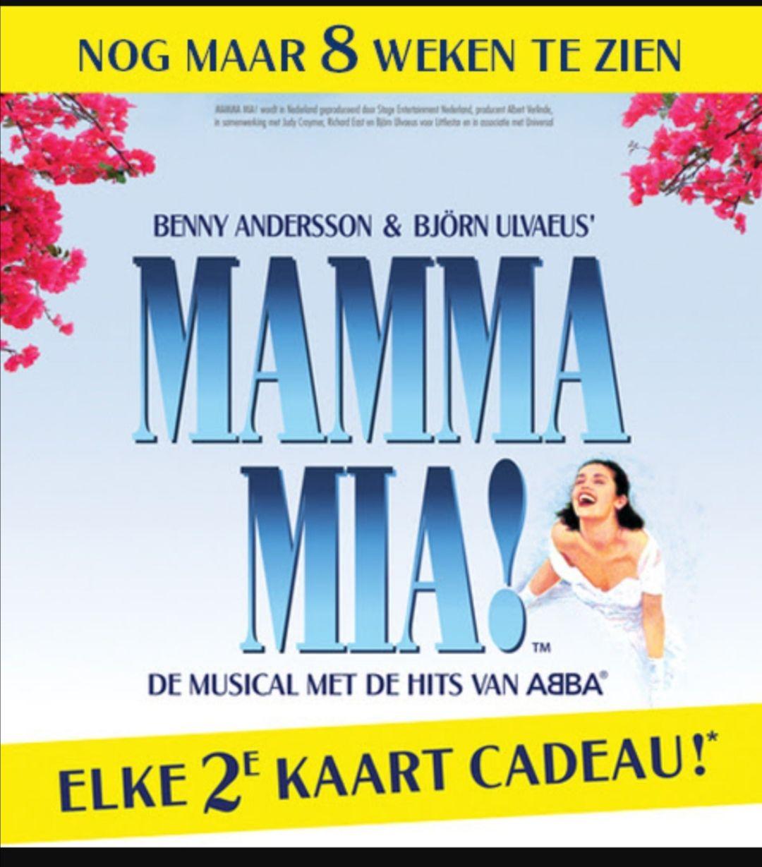 Mamma Mia! Musical 2e kaartje cadeau zonder ergens een abonnee te worden