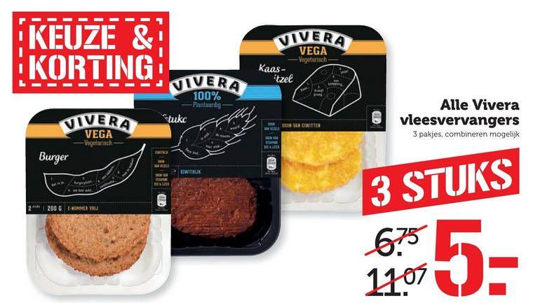 Vivera vleesvervangers 3 voor €5