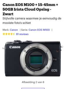 Canon EOS M100 + 15-45mm + 50GB Irista Cloud Opslag - Zwart @ bol.com