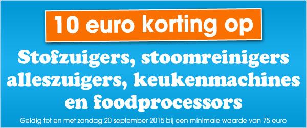 10 euro kassakorting op klein huishoudelijk @ Bobshop