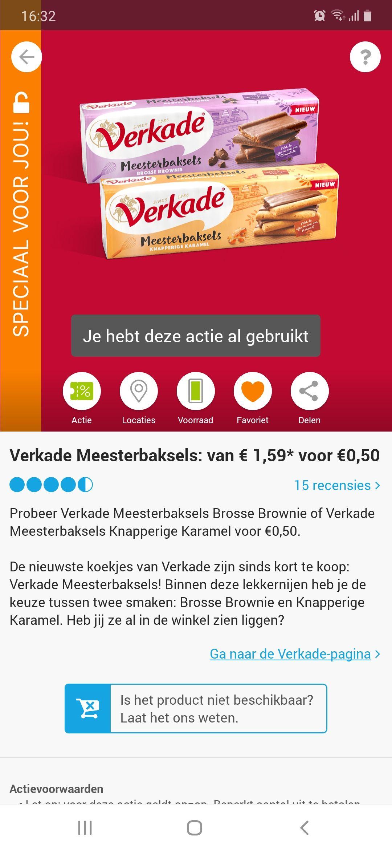 Verkade meesterbaksels voor € 0,50 ct