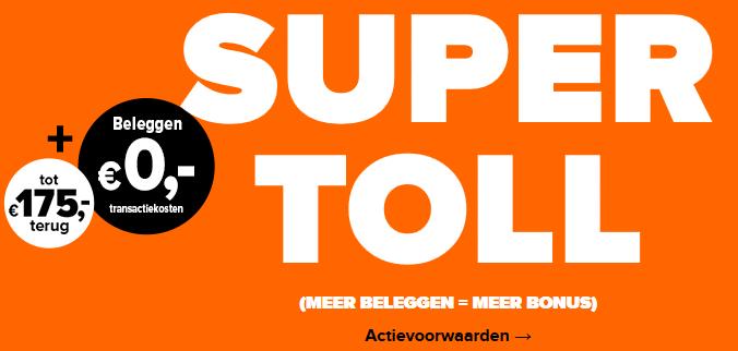 Flatex Super Toll tot €175 terug + €0 beleggingstransactiekosten