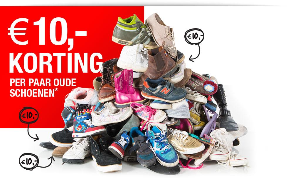 €10 korting per paar oude schoenen @ Scapino, Actie Sport, Intreza en Dolcis