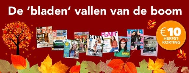 €10 korting op een tijdschriftabonnement bij Magazine.nl