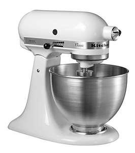 KitchenAid Classic keukenmachine incl. schenktuiten of displaybescherming Wit