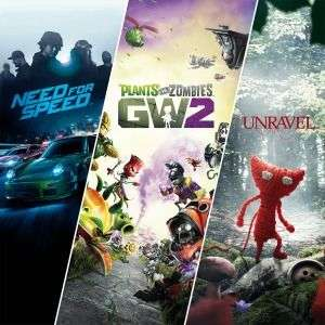 EA Familie bundel: Need for Speed, Plants vs Zombies en Unravel.