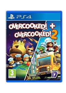 Overcooked + Overcooked 2 bundel voor €22.49 (PS4 / Xbox One) of €34.24 (Switch)