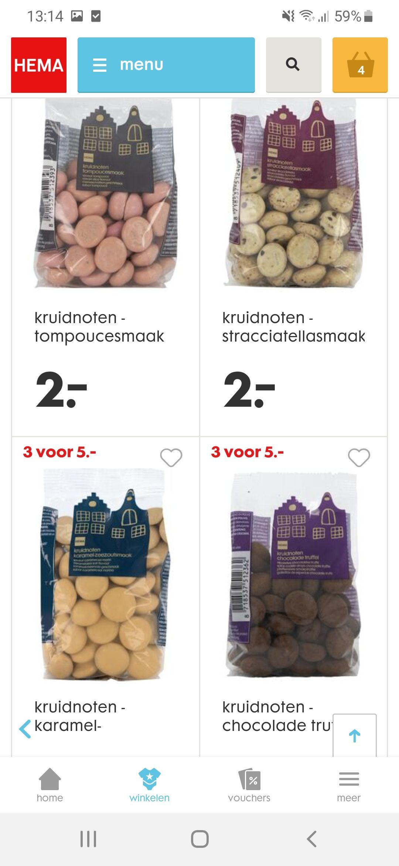 Kruidnoten diverse smaken 3 voor €5