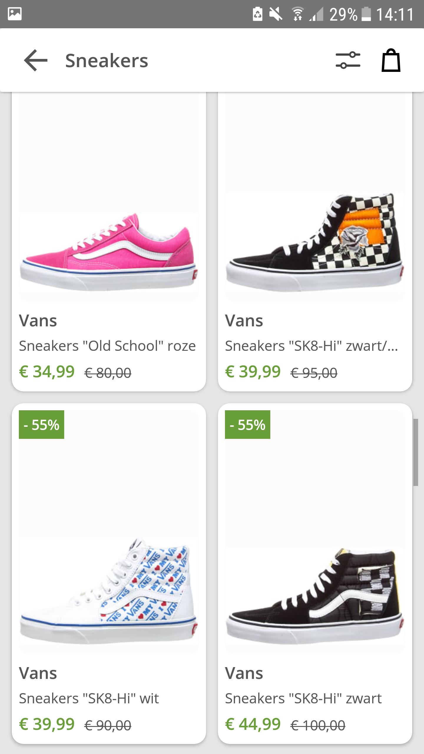 Tot 60% Korting op Vans schoenen