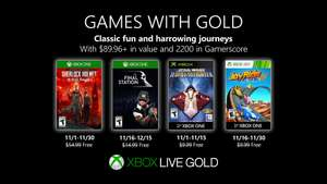 Games with Gold voor Xbox - November 2019