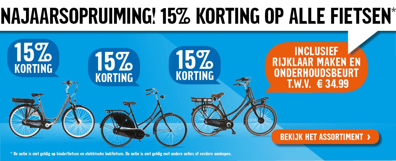 15% korting op (bijna) alle fietsen @ Halfords