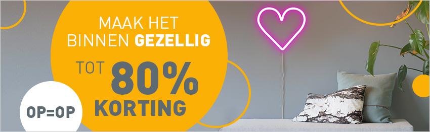 Tot 80% korting op geselecteerde verlichting bij lampenlicht.nl