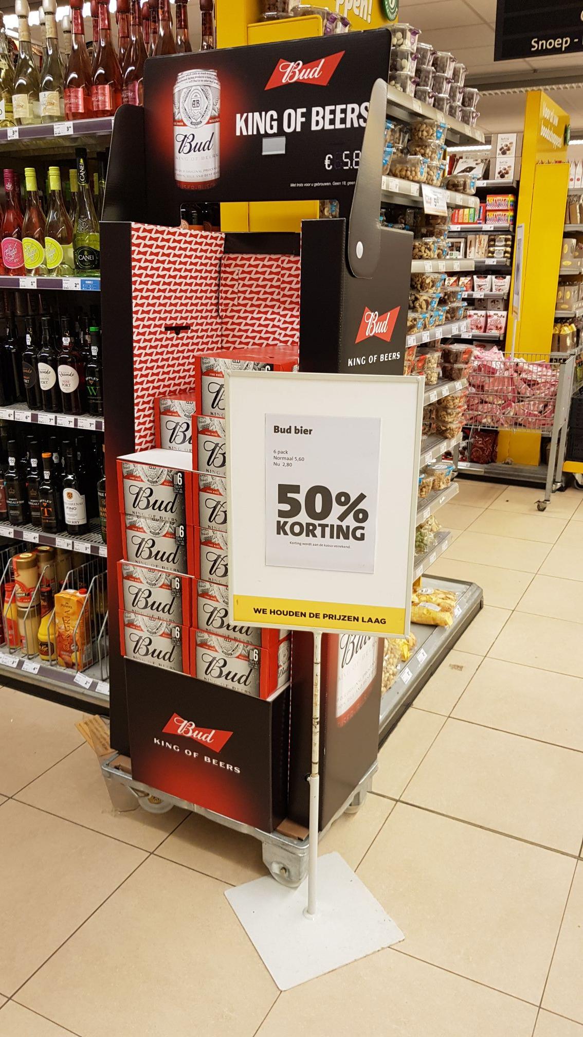 [Lokaal?]Bud bier 50% korting bij Jumbo