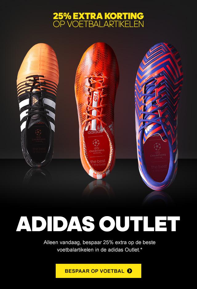 Alleen vandaag 25% extra korting op voetbalartikelen @ Adidas Outlet