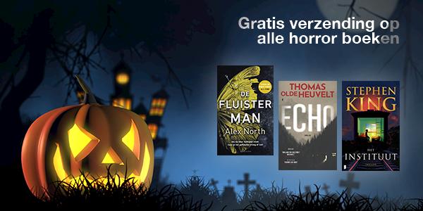 Ako.nl, vandaag=Halloween, geen verzendkosten horrorboeken,