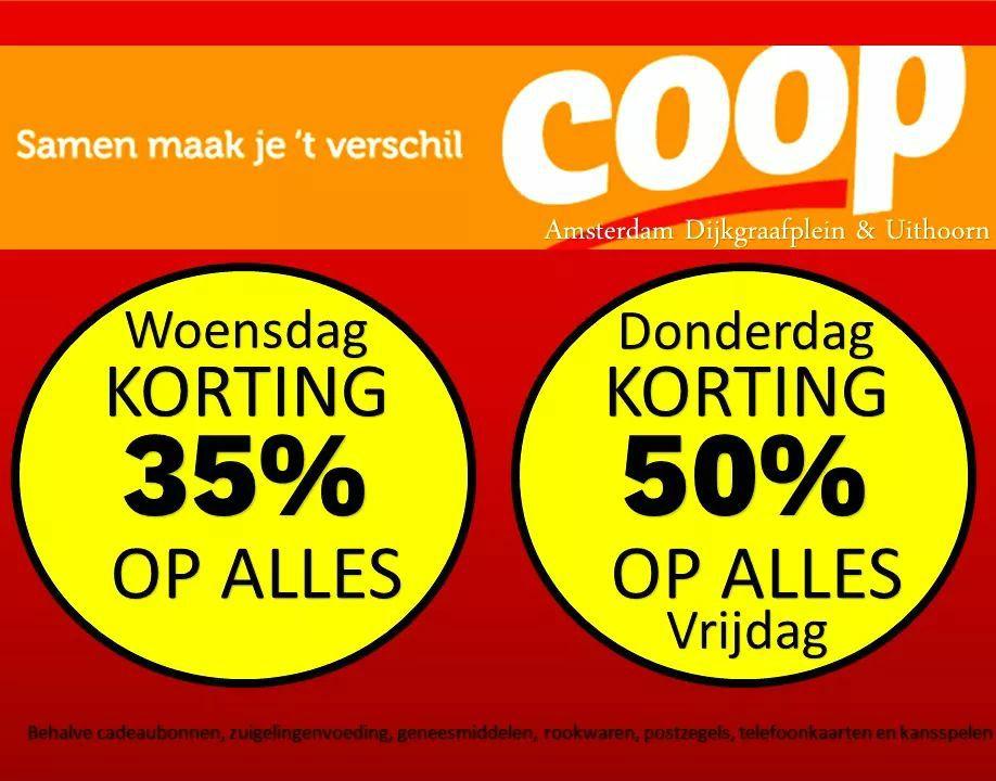 Coop Amsterdam dijkgraafplein opheffingsactie