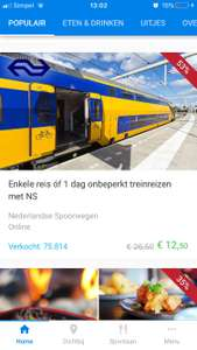 Social deal heeft enkele reis treinreizen al vanaf 12,50