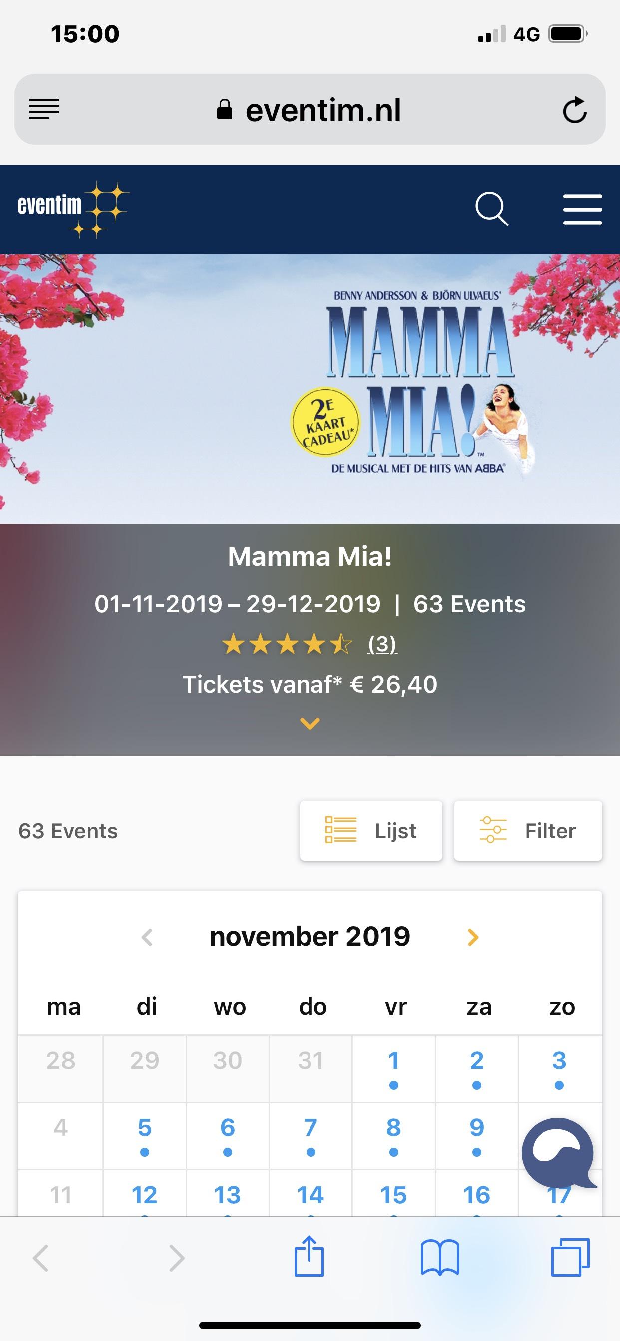 Musical mama mia 2e kaartje gratis