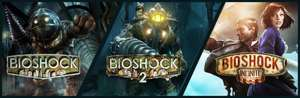 Bioshock 1 + Bioshock 2 + Bioshock Infinite (PC) voor € 10,19 @ Steam